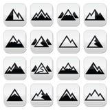 Bottoni della montagna messi Immagine Stock