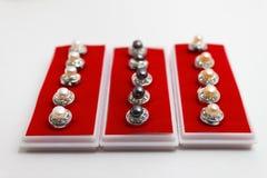 Bottoni della perla Immagini Stock Libere da Diritti