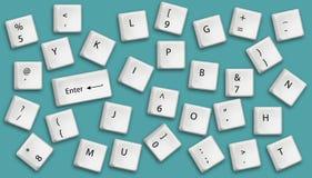 Bottoni della tastiera Fotografia Stock