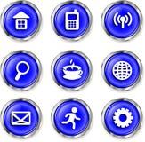 Bottoni delle icone Fotografia Stock