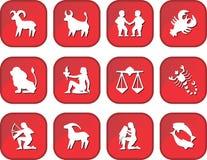Bottoni dello zodiaco Fotografia Stock