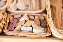 Bottoni di Artigianal Immagine Stock