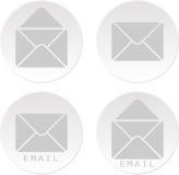 Bottoni di bianco del email Fotografie Stock