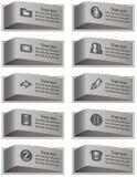 Bottoni di comunicazione messi Buon disegno Fotografia Stock