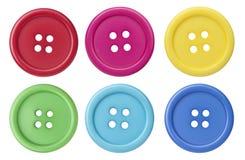 bottoni di cucito Fotografie Stock