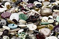Bottoni di cucito Fotografia Stock Libera da Diritti