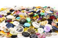 Bottoni di cucito Fotografie Stock Libere da Diritti