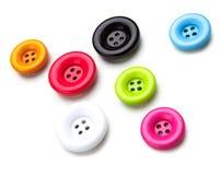 Bottoni di cucito brillantemente colorati Immagini Stock Libere da Diritti