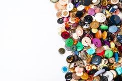 Bottoni di cucito con spazio per testo Fotografie Stock Libere da Diritti