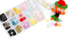 Bottoni di cucito messi Fotografia Stock Libera da Diritti