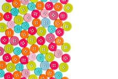 Bottoni di cucito variopinti Fotografia Stock Libera da Diritti