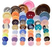 Bottoni di cucito variopinti Fotografia Stock