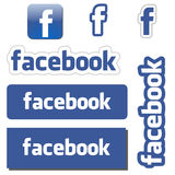 Bottoni di Facebook Fotografie Stock Libere da Diritti