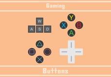 Bottoni di gioco Immagine Stock