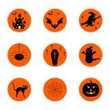 Bottoni di Halloween Immagini Stock Libere da Diritti