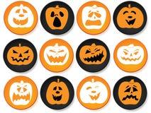 Bottoni di Halloween messi Fotografie Stock Libere da Diritti