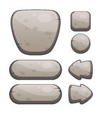 Bottoni di pietra per progettazione del gioco o di web Immagini Stock