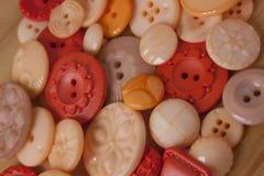 Bottoni di plastica del mestiere Immagine Stock