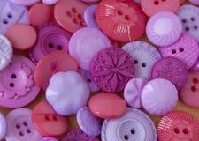 Bottoni di plastica del mestiere Fotografie Stock Libere da Diritti