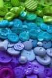 Bottoni di plastica del mestiere Fotografia Stock