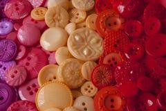 Bottoni di plastica del mestiere Fotografie Stock