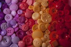 Bottoni di plastica del mestiere Immagine Stock Libera da Diritti