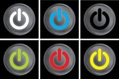 Bottoni di potere Fotografie Stock