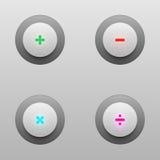 Bottoni di tecnologia di per la matematica per progettazione di vettore Immagine Stock Libera da Diritti
