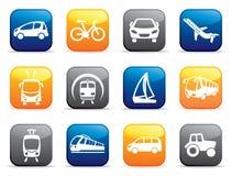 Bottoni di trasporto Illustrazione di vettore Immagini Stock