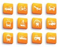 Bottoni di trasporto Illustrazione di vettore Immagini Stock Libere da Diritti