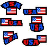 Bottoni di U.S.A. illustrazione vettoriale