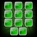 Bottoni di vetro Fotografie Stock Libere da Diritti