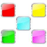 Bottoni di vetro Immagine Stock Libera da Diritti