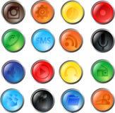 Bottoni di vetro di vettore Fotografia Stock Libera da Diritti