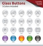 Bottoni di vetro - lavanderia Fotografie Stock