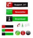 Bottoni di Web Fotografie Stock Libere da Diritti