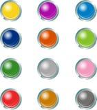 Bottoni di web Fotografia Stock