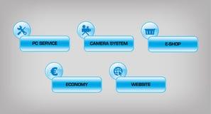 Bottoni di web Immagini Stock