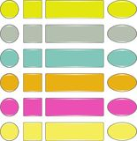 Bottoni di web Immagine Stock