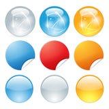 Bottoni di web brillanti illustrazione di stock