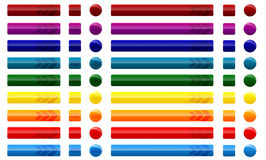 Bottoni di web con le frecce Immagine Stock Libera da Diritti