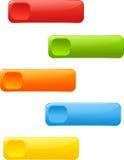 Bottoni di web, etichette Fotografia Stock Libera da Diritti