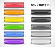 Bottoni di web messi per la vostra progettazione Immagini Stock Libere da Diritti