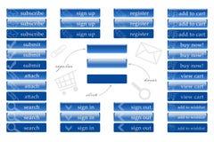 Bottoni di web per il negozio Immagini Stock Libere da Diritti