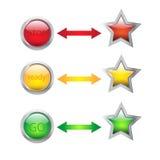 Bottoni e frecce illustrazione vettoriale