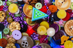 Bottoni e perle Immagine Stock Libera da Diritti