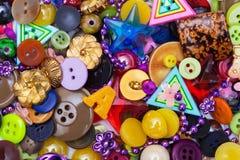 Bottoni e perle Fotografie Stock Libere da Diritti