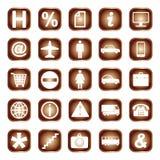 Bottoni, elementi o icone di web Illustrazione Vettoriale