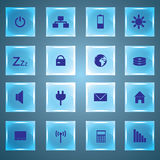 Bottoni eps10 di vetro di indicazione del PC e del computer portatile Illustrazione Vettoriale