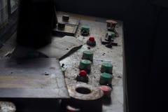 Bottoni in fabbrica abbandonata Fotografie Stock Libere da Diritti